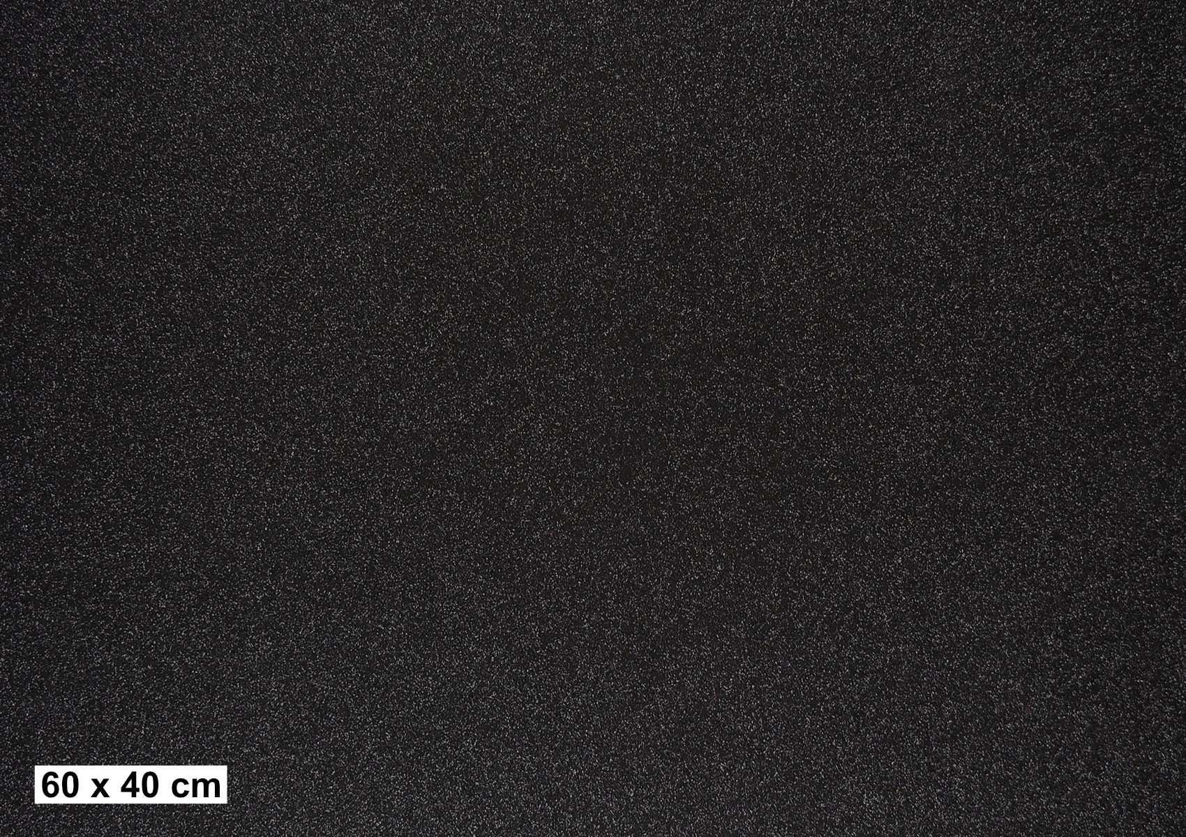 Glitzer schwarz G706